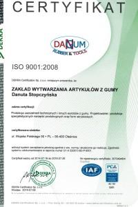 Certyfikat ISO 9001:2008 PL